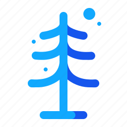 blue, set, tree, winter icon
