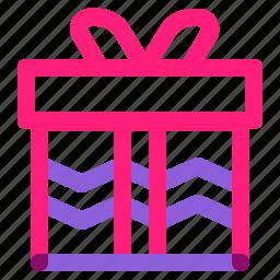 gift, set, winter icon