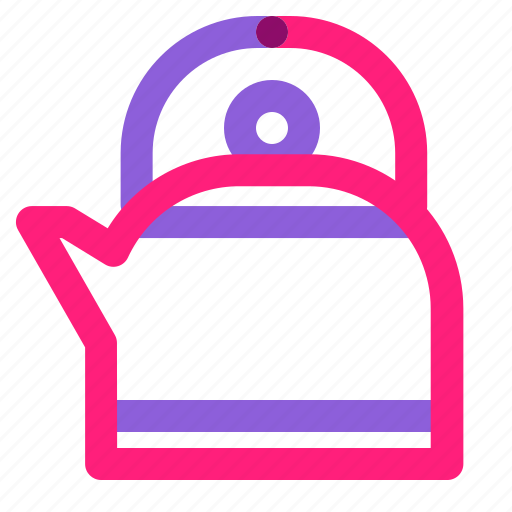 kettle, set, winter icon