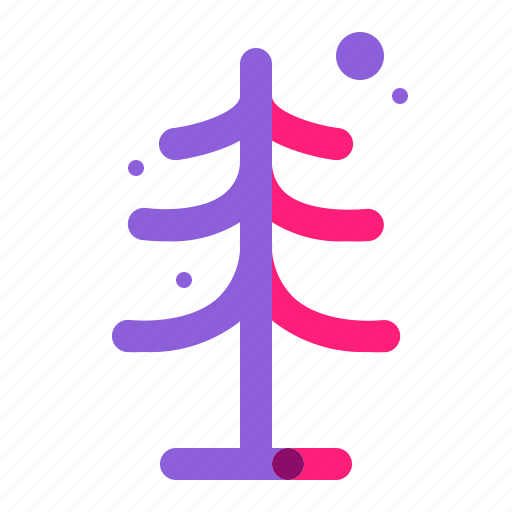 set, tree, winter icon