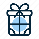 box, christmas, gift, present, seasons, snow, winter icon