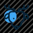 animal, deer, head, reindeer, seasons, snow, winter icon