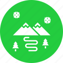 competition, landscape, mountain, olympics, scenery, snow, winter icon