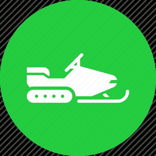 snow, snowmobile, transport, travel, vehicle, winter icon