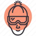avatar, beanie, character, clothing, cold, goggles, winter icon