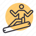 recreation, winter, sports, snowboard, adventure, activity, fun icon