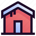 building, holiday, house, snow, vacation, winter icon