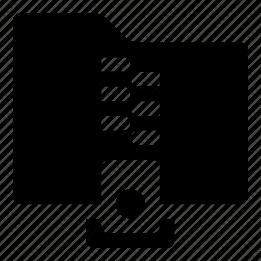 compressed, contain, folder, zip, zipper icon