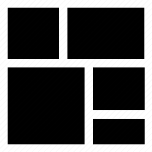 boxes, fluid, grid, layout, reflow, responsive, tiles, wireframe icon