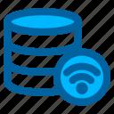 database, server, storage, data, network, wireless, connection