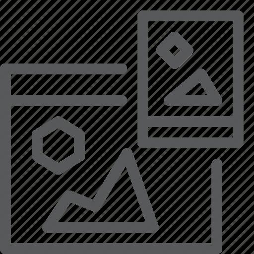 computer, mobile, programming, screen, share, smartphones, tab, window icon