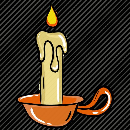 candle, candlelight, decorative candle, glim, illumination, magic candle icon