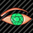 evil eye, eyeball, horror eye, magic eye, spooky eye icon