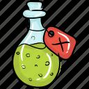 love potion, magic poison, magic potion, potion, potion bottle icon