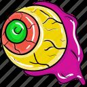 evil eye, eyeball, horror eye, magic eye, spooky eye, spooky eyeball icon