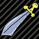 combat, kendo sword, medieval blade, quillons, sword icon