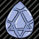 diamond, expensive stone, gem, gemstone, jewel, ruby, semi precious stone icon