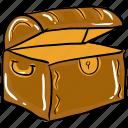 box, chest box, money box, treasure, wooden chest icon