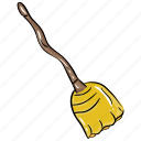 broom, broomstick, cleaning broom, housekeeping mop, magic broom icon