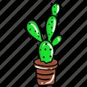 cactus, pot plant, prickly pear, succulent, wildplant icon