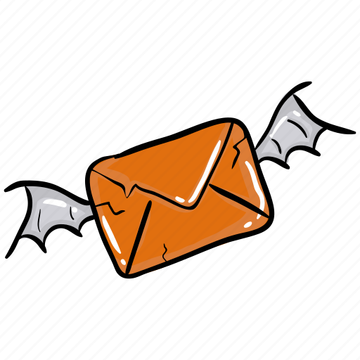 halloween invitation, horror mail, scary letter, scary mail, scary message, spam mail icon