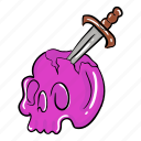 halloween skull, human skull, magical skull, skull anatomy, skull bones icon