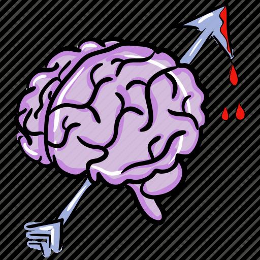 brain, brain magic, cerebellum, injured brain, mind, neural system icon