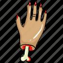creepy hand, evil hand, scary hand, zombie hand icon