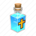 christian, church, cross, holy, magic, spell, water icon