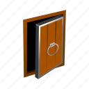 door, exit, knob, magic, medieval, old icon