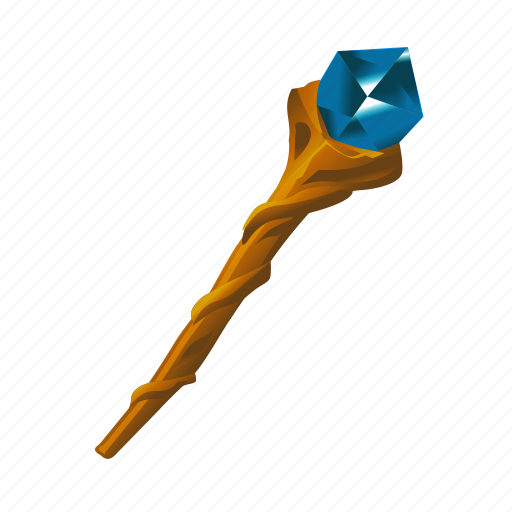 Mage Magic Spell Staff Witch Wizard Icon