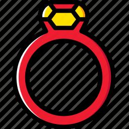 accessories, fashion, ring, woman icon