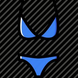 bikini, clothes, fashion, woman icon