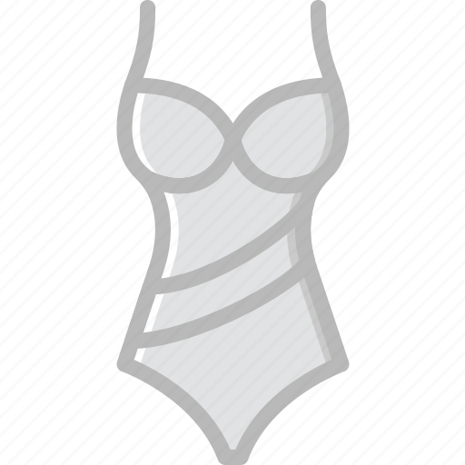 clothes, fashion, one, piece, swimsuit, woman icon