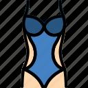 clothes, fashion, piece, swimsuit, woman icon