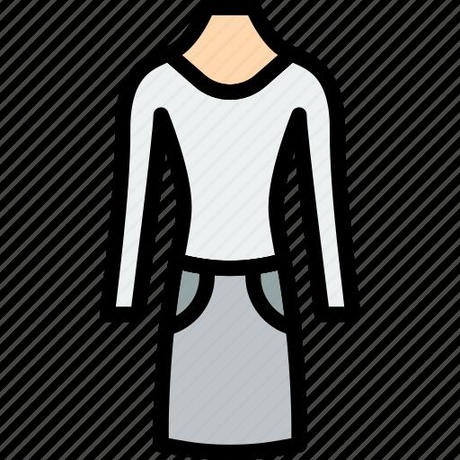 clothes, fashion, suit, woman icon