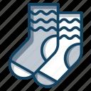 anklet cover, footwear, kid socks, socks, undershoe socks icon