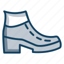 ankle boots, high boot, high shoe, long boot, winter boots icon