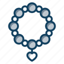 bangle, beads bracelet, bracelet, jewellery, ornament, wearable icon