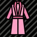 bathrobe, clothing, fashion, woman icon