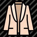blazer, clothing, fashion, vest, woman icon