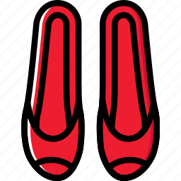 fashion, footwear, loafers, woman icon