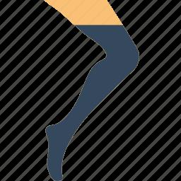 fashion, footwear, socks, woman icon