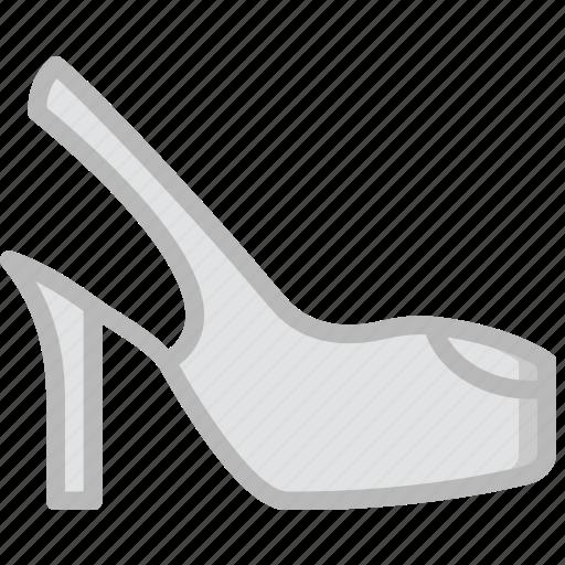 dress, fashion, footwear, shoes, woman icon