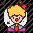 avatar, clown, job, profile icon