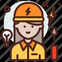 avatar, electrician, job, profile icon