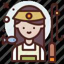 avatar, fisherman, job, profile icon