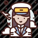 avatar, job, pilot, profile icon