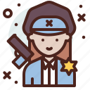 avatar, job, officer, police, profile icon