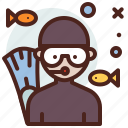avatar, diver, job, profile, scuba icon